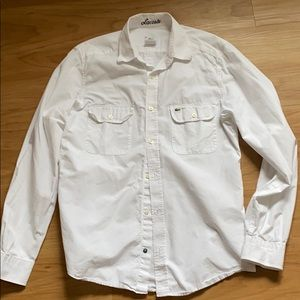 LACOSTE Mens white long sleeve dress shirt size 39